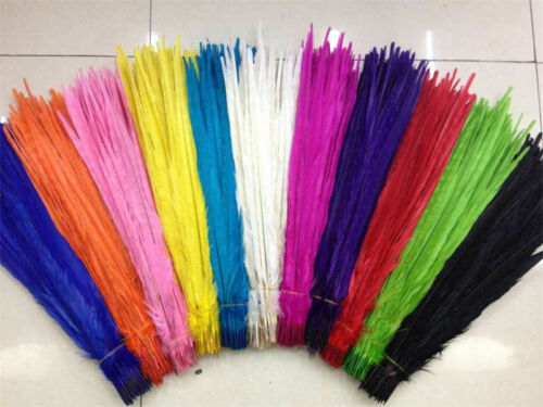 10-100pcs natural pheasant tail feathers 10-24 inch Beautiful 25-60 cm
