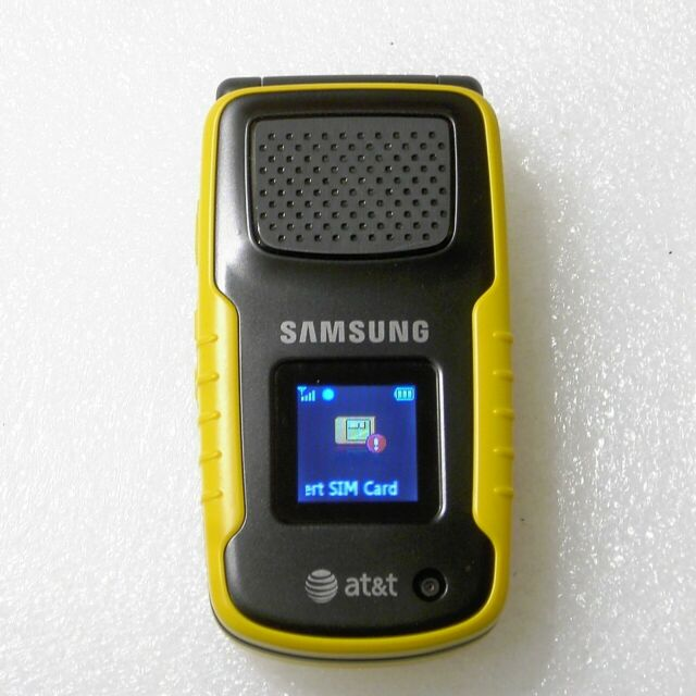 Samsung Rugby SGH-A837 - Yellow (AT&T) Cellular Phone.