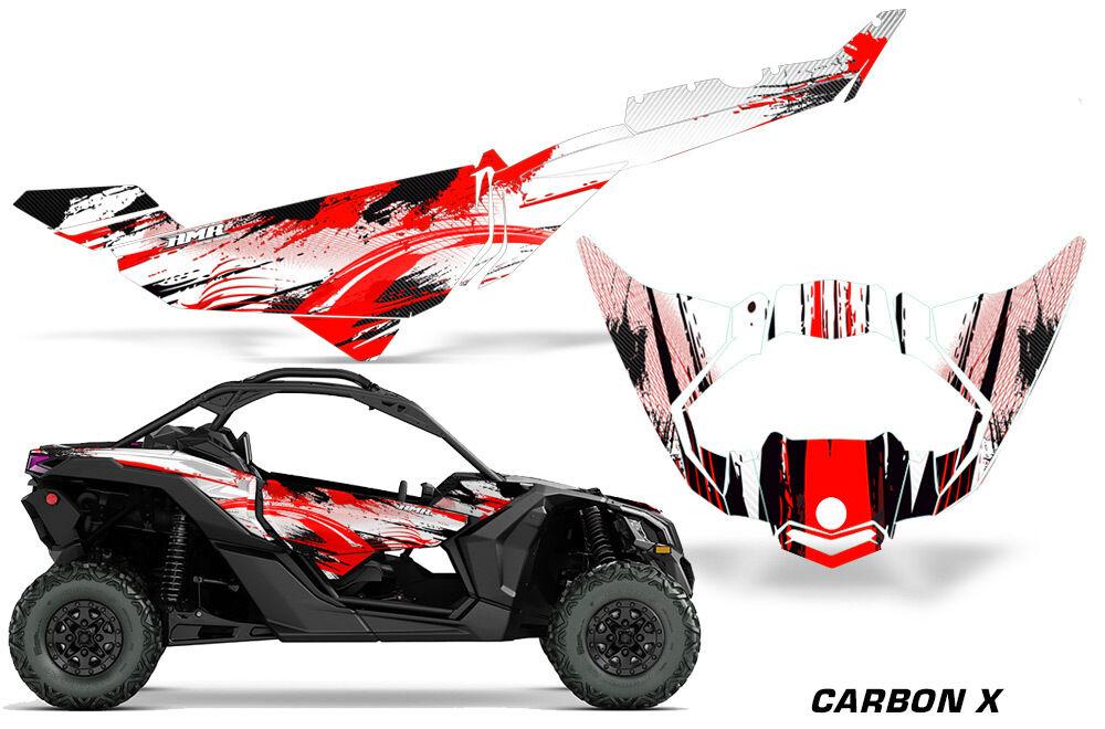 Utv Aufkleber Grafik Kit Kit Kit für Can-Am Maverick X3 Ds Rs 2016-2018 Carbonx Rot 1f7a09