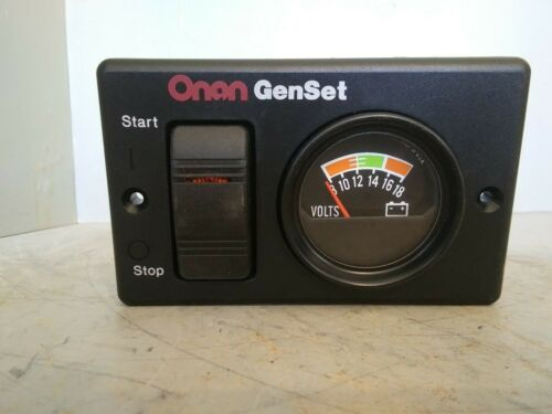 Onan GenSet Start//Stop Switch and Volts Panel 319-3082 300-495201