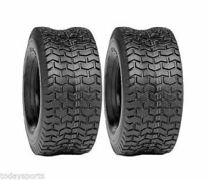Two-New-15x6-00-6-Deestone-D265-Turf-Tire-15x600-6-156006-Lawn-Mower-4-ply
