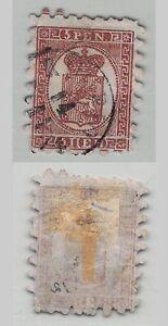 Finlande-1866-SC-12-A-utilise-roulette-II-vert-Papier-verge-c9568