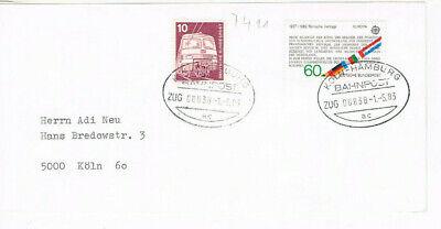 Briefmarken Professioneller Verkauf Köln Hamburg // Bahnpost 1983 // Bahnpostbild FüR Schnellen Versand