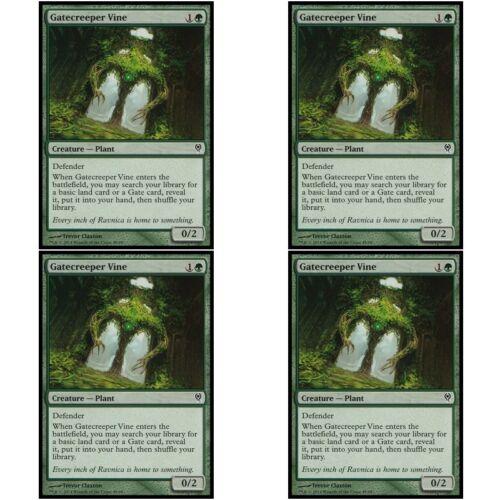4 x GATECREEPER VINE NM mtg Jace vs Vraska Green Creature Plant Com