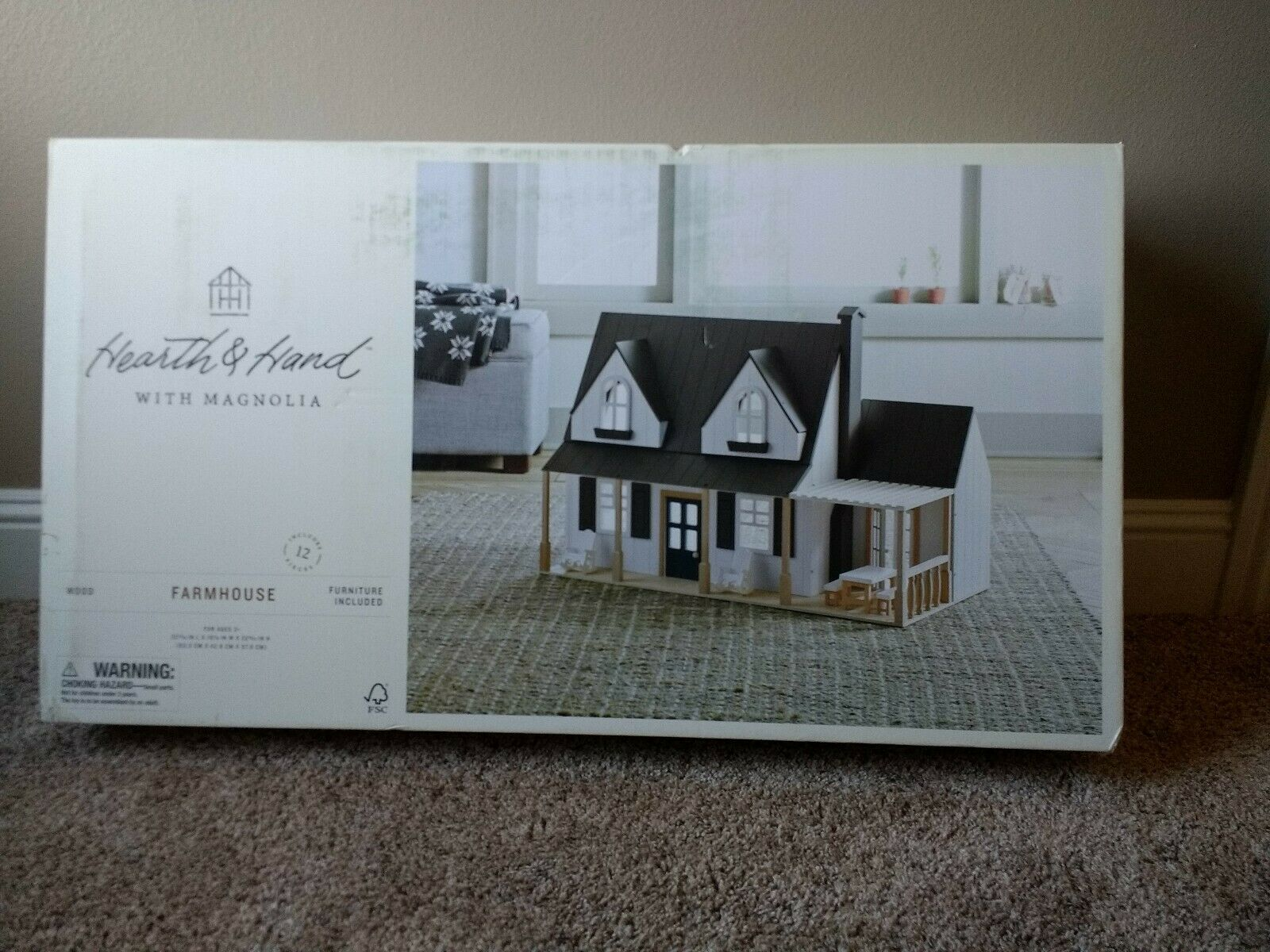 New Hearth And Hand With Magnolia Holz Spielzeug Doll haus Landwirtschafthaus Joanna Gaines