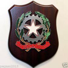 CREST REPUBBLICA ITALIANA Nuovo Artigianale 17 x 23 cm. Stemma Logo Targa Trofeo
