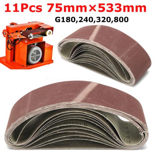 11pc Ponçage Bande Abrasive Ponceuse Papier de Verre Polissage G 180 240 FR!