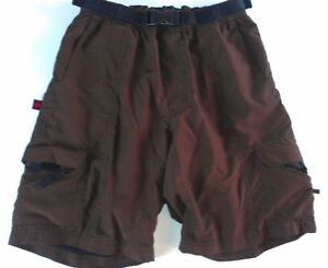 Hoss-Technical-Gear-Cargo-Cycling-Shorts-Adult-XS-S-Padded-Liner-Bike-26-034-Waist