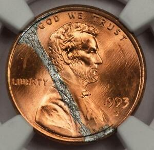 1993 D NGC MS65RD Defective Plating Lincoln Cent Mint ...