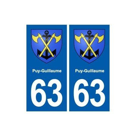 63 Puy-Guillaume blason autocollant plaque stickers ville droits