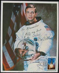 S1415-Space-astronauta-donald-h-Peterson-nasa-Photo-printed-1974-Autograph-ou
