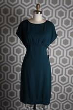NWT L'AGENCE Open Back Dress 4 $380 Peacock Blue