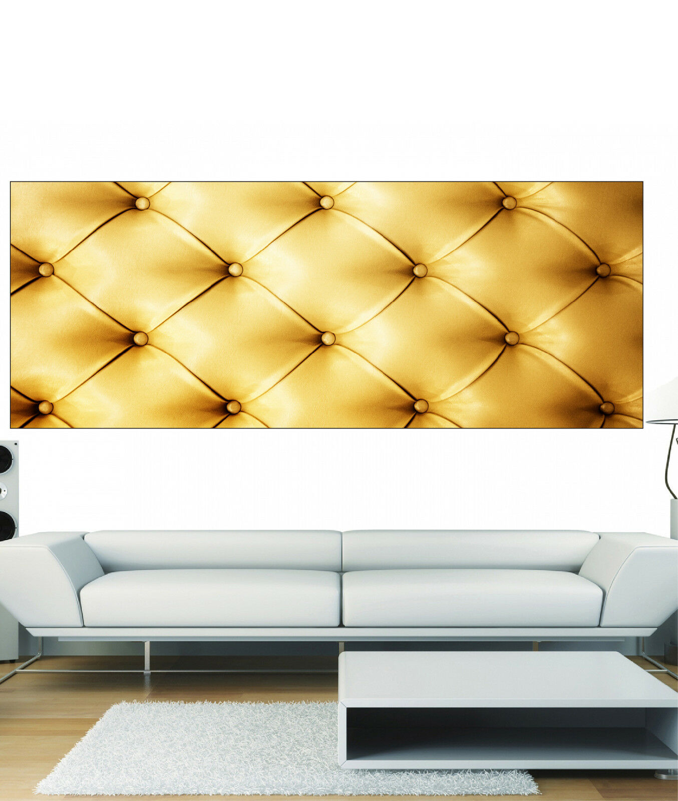 Aufkleber Panorama Deko Wand Gepolstert Gold Ref 3620 (13 Größe)