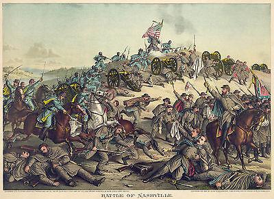 Fine Art Print 1864 Battle of Nashville Civil War Prints and Drawings