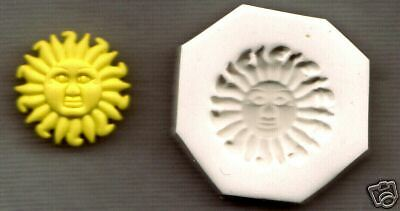 SUN FACE Polymer Clay Mold 0 S//H AFTER FIRST ITEM!