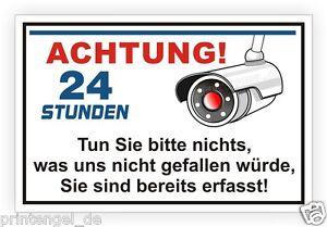 Schild-Achtung-videoueberwachung-videoueberwacht-video-Warnung-Hinweisschild-Vi84