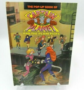 Captain-Planet-and-the-Planeteers-Pop-Up-Book-1991-Hardcover-Popup-Ted-Turner