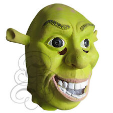Latex Full Head Cartoon Movie Character Ogre Shrek Donkey Fairytale Party Masks