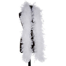 White 40 Gram Chandelle Feather Boas - 6 Feet Long - Halloween Costumes - Trim