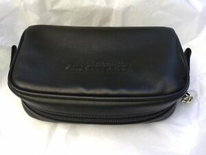 Details about Brand New Penhaligon's Black Leather Cosmetic Make Up Wash Bag