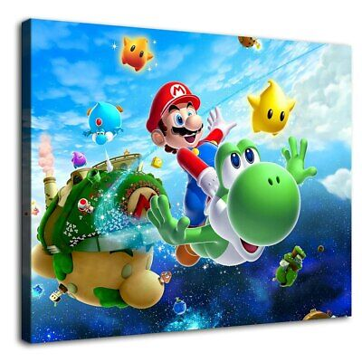 Mario Mario Yoshi Painting HD Print on Canvas Home Decor Wall Art Picture