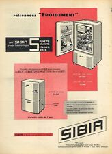 C- Publicité Advertising 1958 Les Refrigerateurs SIBIR