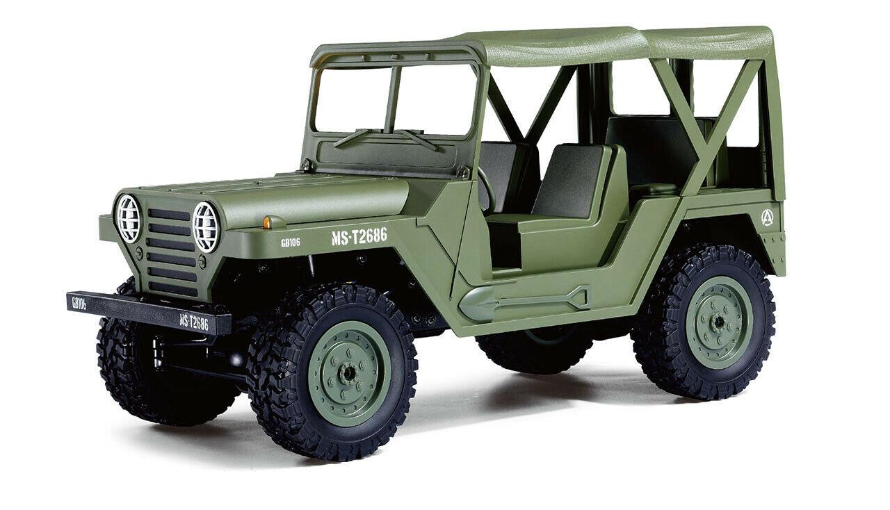 RC U.S. Militär Geländewagen 1 14 4WD RTR, green NEU