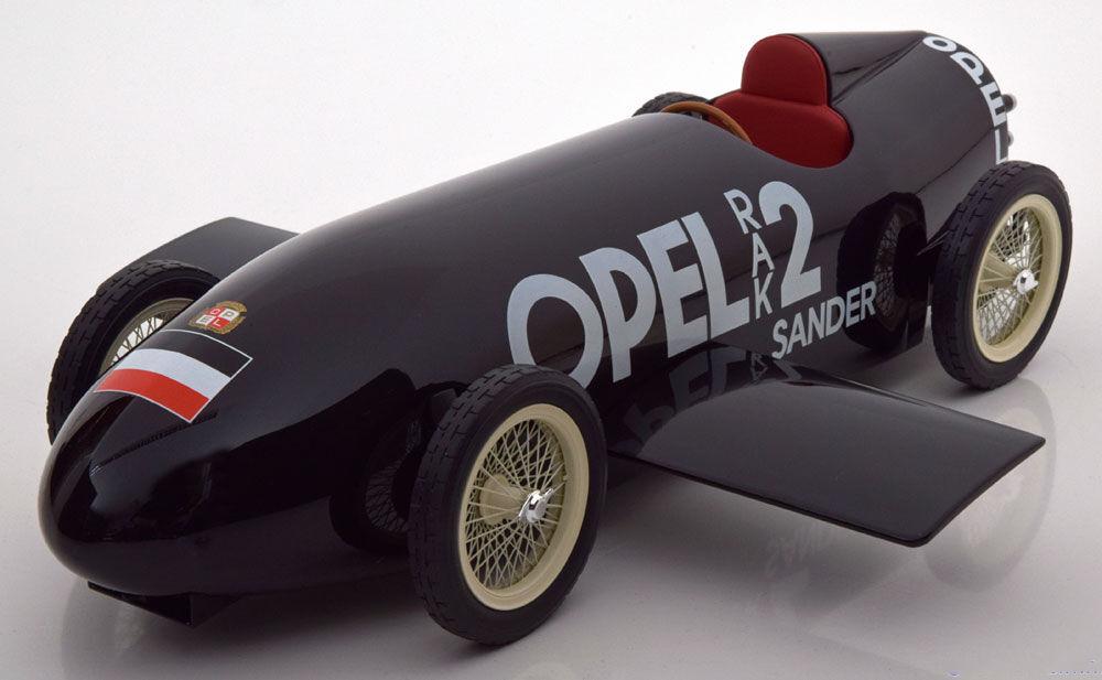 1928 Opel RAK2 Schwarz von Bos Modelle Le Of 1000 1 18 Maßstab Selten  Im Lager    Charakteristisch