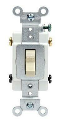 Leviton S03-CS220-2IS 20 Amp Ivory Commercial Grade AC Quiet Switch Toggle