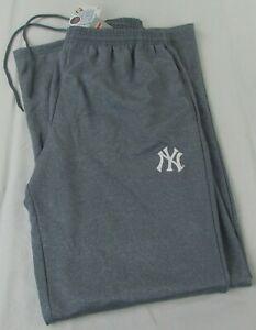 New-York-Yankees-MLB-Majestic-Men-039-s-Big-amp-Tall-Gray-Sweatpants