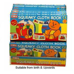 A to Z Baby My First Squeaky Cloth Book Animals Play and Learn 5012866632139