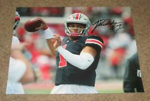 JUSTIN-FIELDS-SIGNED-AUTOGRAPHED-OHIO-STATE-BUCKEYES-8X10-PHOTO-1-PROOF-HEISMAN