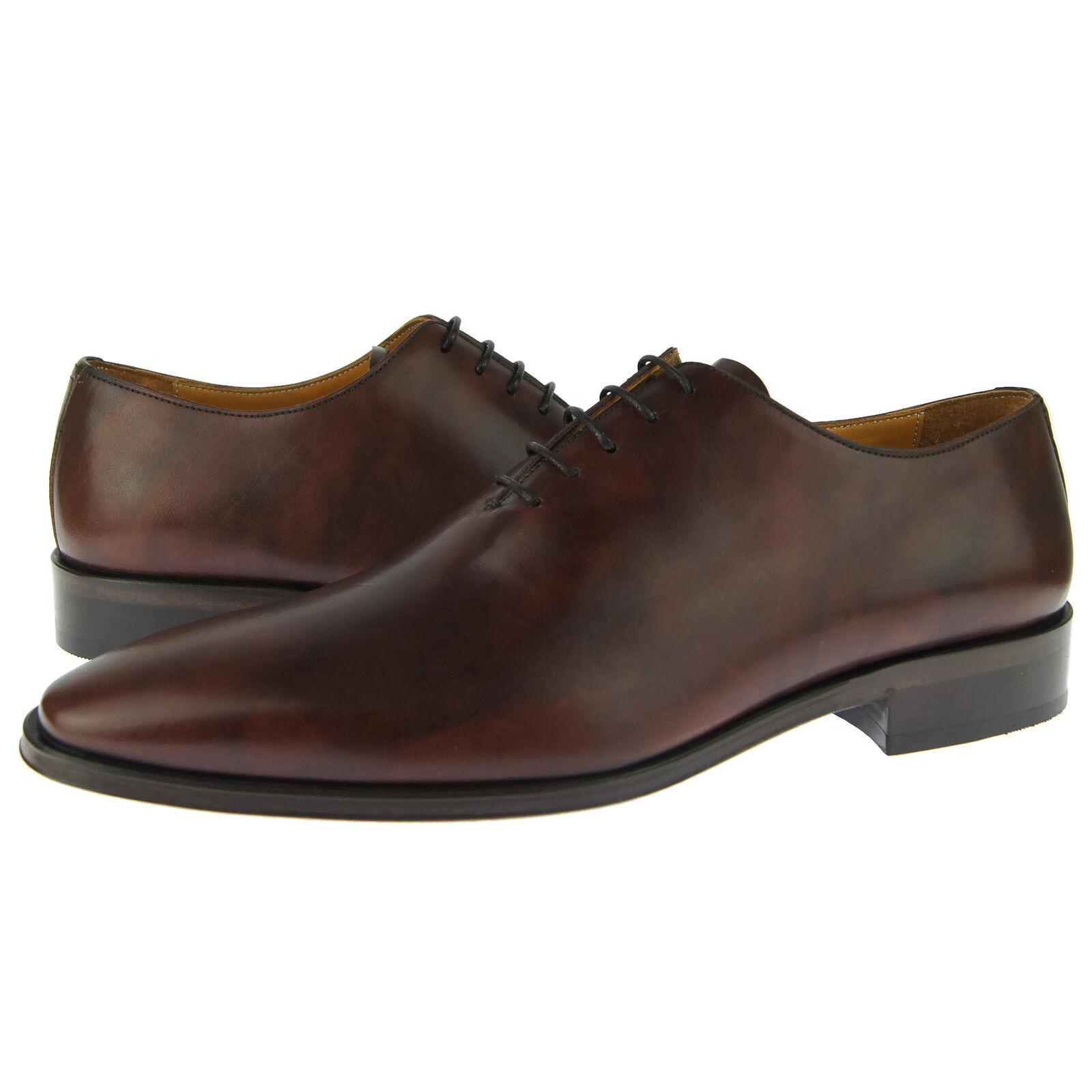 Alex D  Cambridge  Plain Wholecut Oxford, Men's Dress shoes, Museum Brown