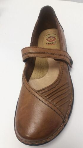 EARTH SPIRIT Women's Tabi Mary Jane Shoes Brown Co