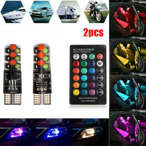 2pcs-T10-COB-RGB-LED-6SMD-Car-Wedge-Side-Multicolor-Light-Bulbs-Remote-ConBRUS