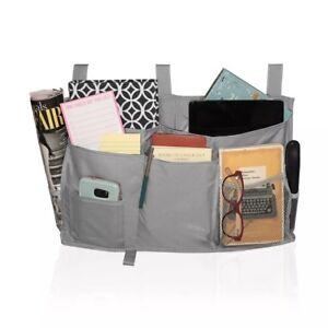 6001af53c65a Details about Bedside Organizer Caddy, Hanging Storage Bag 8 Pockets Remote  Holder Dorm Bed