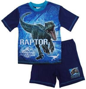 NEW Boys Cotton  Jurassic World 'Raptor' Shortie Pyjamas 4 - 10 Years