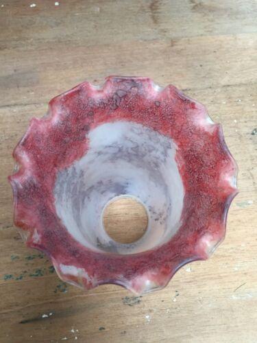 Preloved tacheté d/'eau en verre look ppink//violet à volants globes en verre