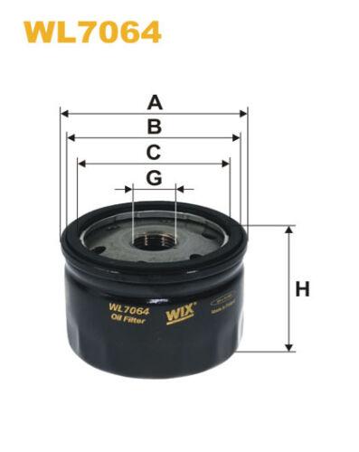Wix wl7064 Voiture Filtre à huile-visser remplace w77 ph2830 AW10