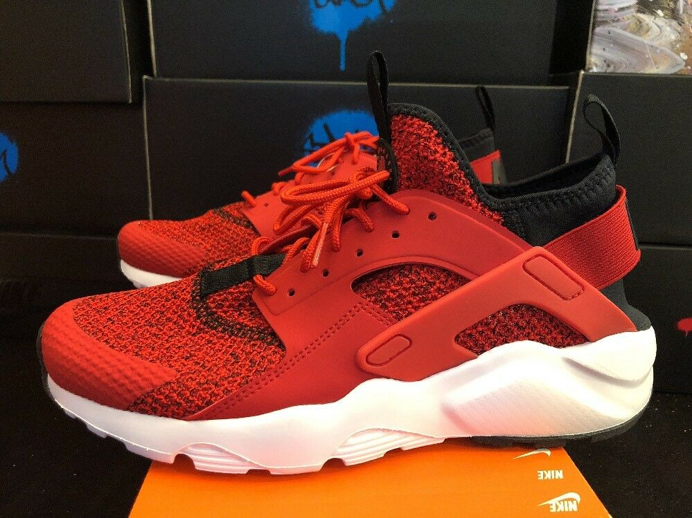 875841 603 NIKE AIR HUARACHE RUN ULTRA SE UNIVERSITY RED BLACK WHITE SIZE 9