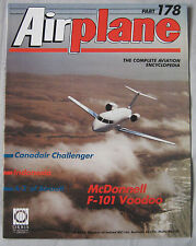 Airplane Issue 178 McDonnell F-101 Voodoo Cutaway & poster, Canadair Challenger