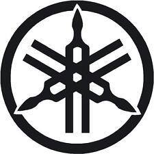 "Logotipo de Yamaha pegatina diapasón 190 Mm 8 ""x 8"" R1 R6 Yzf Xjr Fazer Etiqueta Negra"