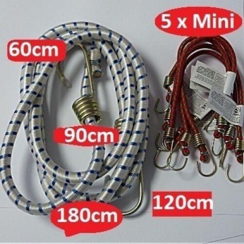 BUNGEE CORDS  Five x Mini or One x 60cm 90cm 120cm 180cm long  heavy duty STRAP