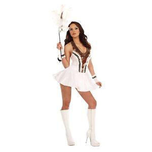 Lady-SNOW-OWL-Costume-Native-American-Dress-Adult-Large-10-12-14-Indian-Eskimo