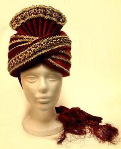 Details about ALADDIN Genie Arabian Nights SULTAN SHIEK SINBAD Men TURBAN  HAT HEADWEAR O S New ce5840156a6