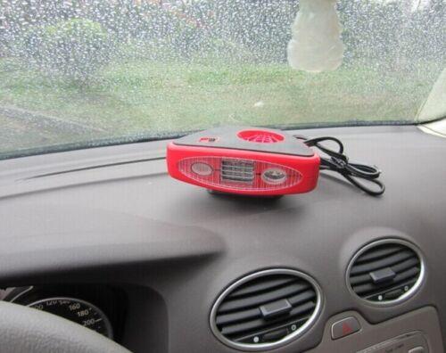 12 VOLT ELECTRIC CAR LIGHTER PLUG IN 12V HEATER FAN DEFROSTER BLOWER W LED LIGHT