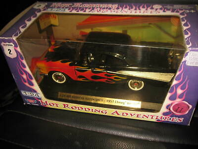 1.24 MOTOR MAX HOT RODDING ADVENTURES 1955 CHEVY BEL AIR OLD SHOP STOCK #76600