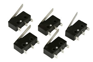 5-pc-TEMCo-Micro-Limit-Switch-Lever-Arm-Subminiature-SPDT-Snap-Action-LOT