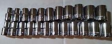 Craftsman Socket Set Hand Tools 12 Drive 23 Piece 12 Pt Saemm Chrome New