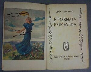 DROZE-E-TORNATA-PRIMAVERA-1948-GRANDI-ROMANZI-SALANI-BIBLIOTECA-SIGNORINE